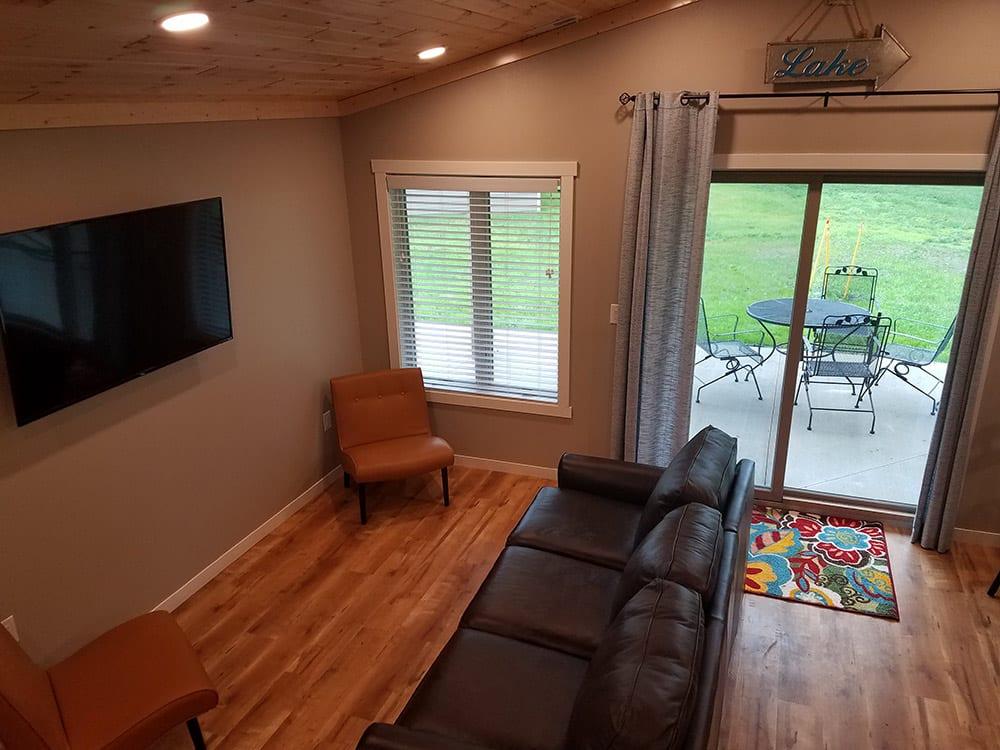 living room in cabin 2